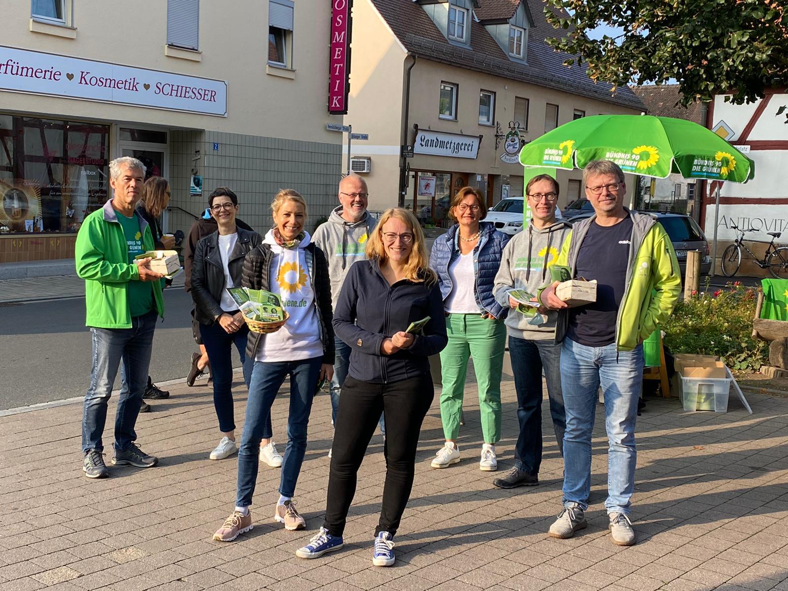 Wahlkampstand am Schlossplatz